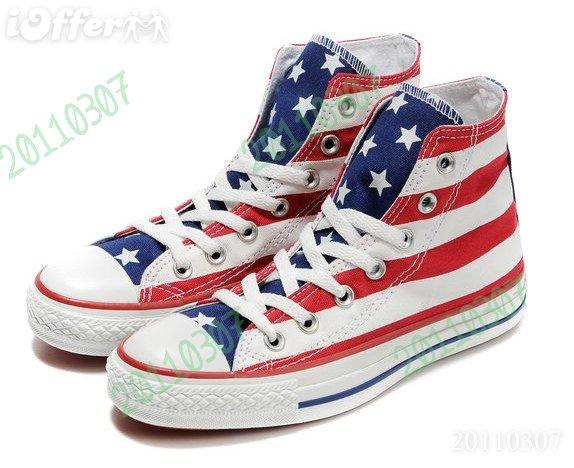ei8u5i8b cheap american flag converse shoes for sale