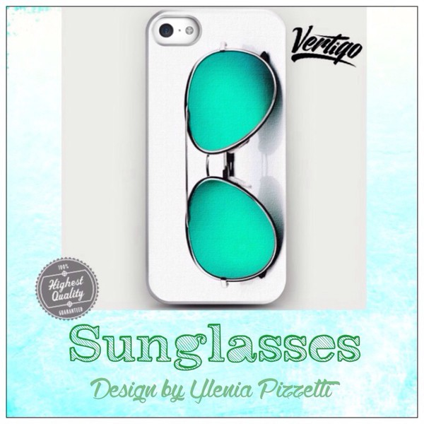 jewels girly iphone case sunglasses cyan