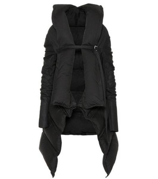 Rick Owens Cotton-blend down coat in black