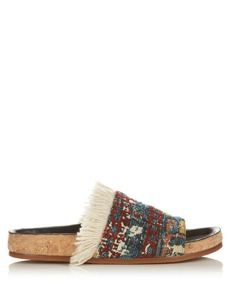 tapestry sandals shoes