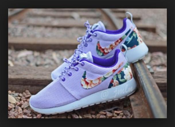 shoes valentine's edition violet purple shoes purple lavender nike nike roshes floral flowers roshe runs nike running shoes nike shoes nike shoes womens roshe runs girls nikes girls sneakers floral shoes floral