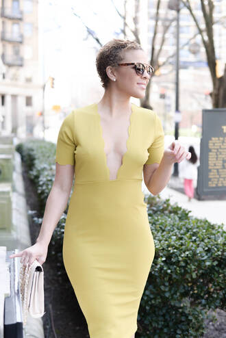sunglasses fashionably lo blogger yellow dress summer outfits