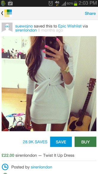 dress white dress fashion twisted short twisted fashion