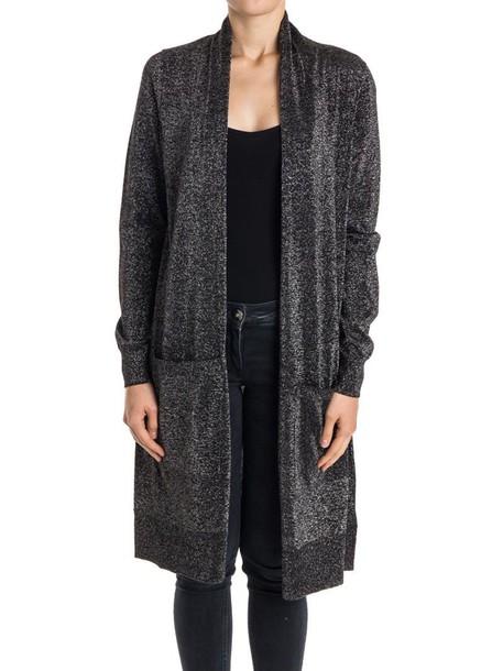 MICHAEL Michael Kors cardigan cardigan cotton silver black sweater