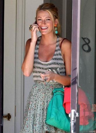 shirt blake lively gossip girl serena van der woodsen skirt