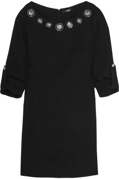Versus Versace - Embellished Crepe Mini Dress - Black