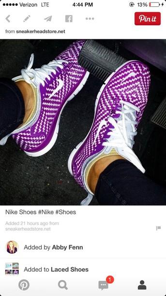shoes purple white nike