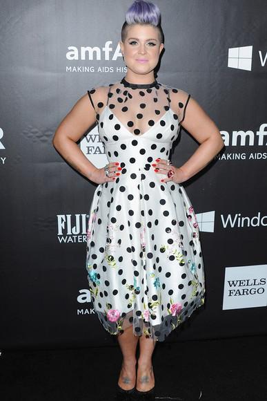polka dots dress kelly osbourne