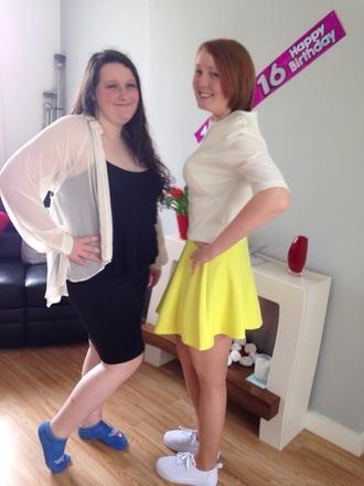 dress yellow dress white crop tops white shoes black dress white sweater little black boots