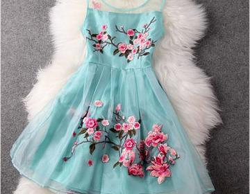 Handmade Embroidered Lace Dress In ..