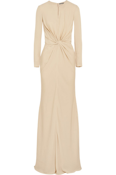 455647ec9950b Alexander Mcqueen Knotted Cady Gown in ivory - Wheretoget