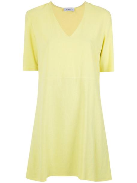 Olympiah dress shift dress women yellow orange