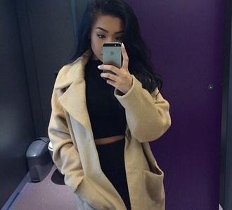 coat trench coat longcoat caramel winter outfits