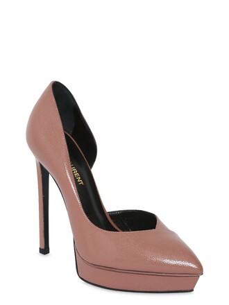 d'orsay pumps pumps leather dark blush shoes