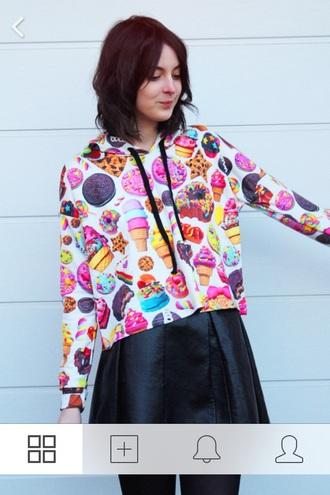 jacket food hoodie hat skirt top