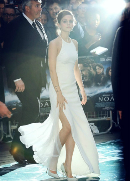 dress white dress emma watson celebrity dresses