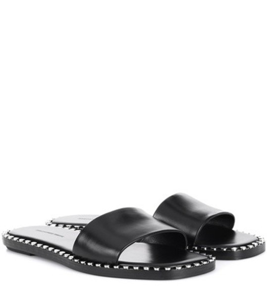 Alexander Wang leather black shoes