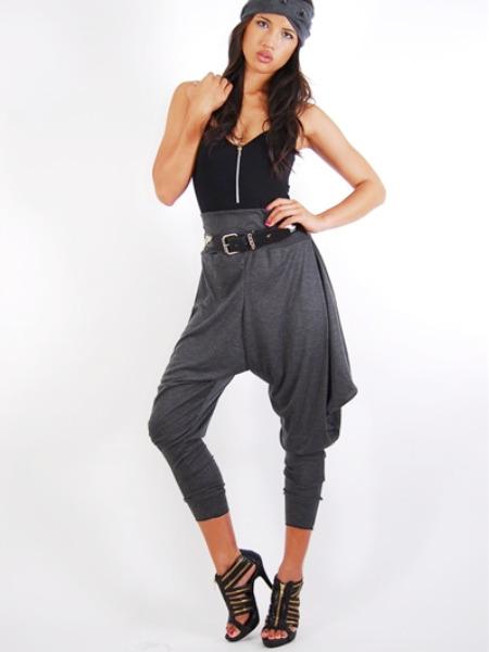 BABOOSHKA Jodphur Harem Pants Harem Pants grey [] - $50.00 : BABOOSHKA BOUTIQUE