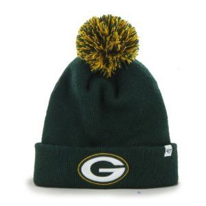 Amazon.com : Green Bay Packers Green Pom Pom 2-Sided Beanie Hat - NFL Cuffed Winter Knit Toque Cap : Sports & Outdoors