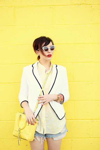 keiko lynn jacket sunglasses jewels blogger
