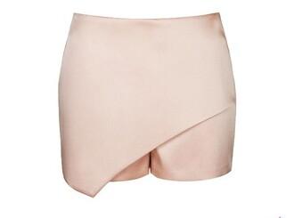 shorts topshop satin dusty pink satin shorts