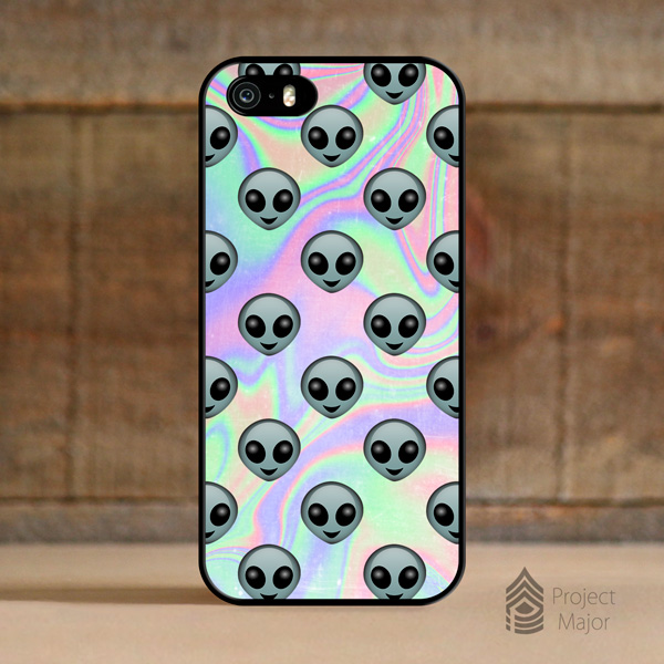 Alien Emoji Hologram Holographic *Style Case Cover for Apple iPhone 5 ...