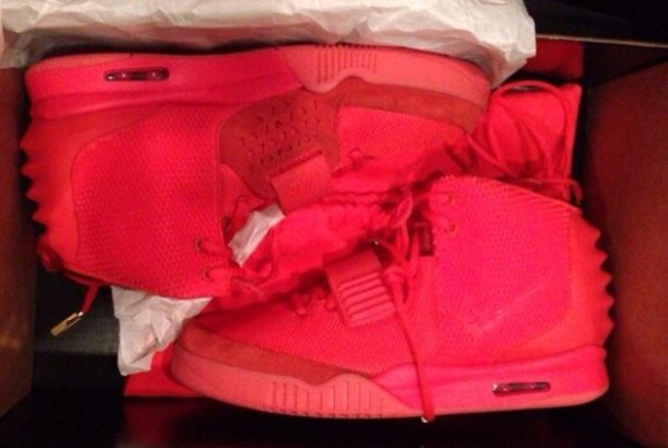 shoes red air yeezy 2