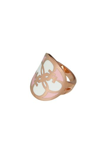 Guess Uptown girl ring Rose Gold - House of Fraser