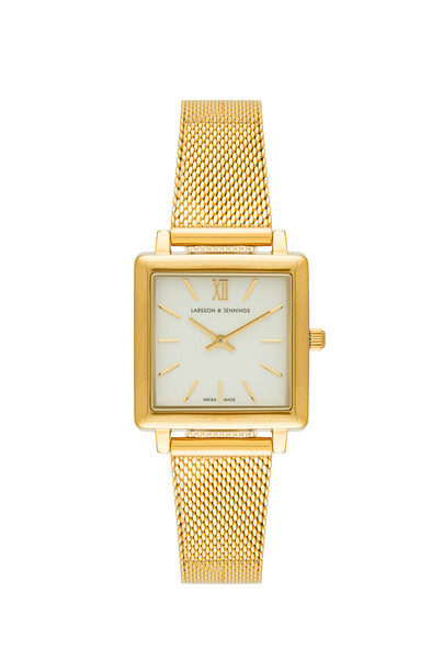 watch metallic gold jewels