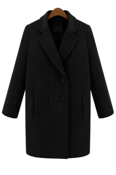 Female-chic Double-breasted Coat - OASAP.com