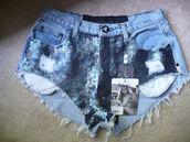 sequins,Sequin shorts,shorts