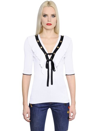 t-shirt shirt cotton white black top