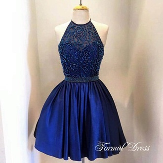 dress blue dress formal party dresses prom dress short dress