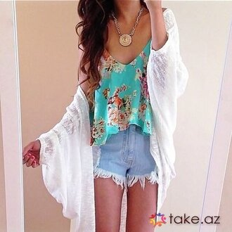 kimono floral jewels jewelry shorts top tank top mint distressed denim shorts denim shorts white boho denim see through high waisted shorts high wasted high waisted cardigan jacket scarf rinasenorita blue acid wash shorts acid wash jeans skinny jeans pants pattern summer outfits flowy flowers flower crown roses rose hipster hippie hippie chic fashion style chicityfashion necklace pendant charm lace short cute girly tumblr tumblr outfit tumblr girl tumblr clothes alternative festival cool beach instagram hat