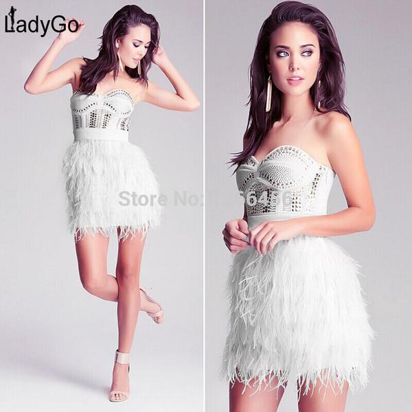 feather dress wedding dress party dress bandage dress evening dress