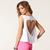 Unique Love Heart Back Design Women's Solid Color Short Vest - $7.87
