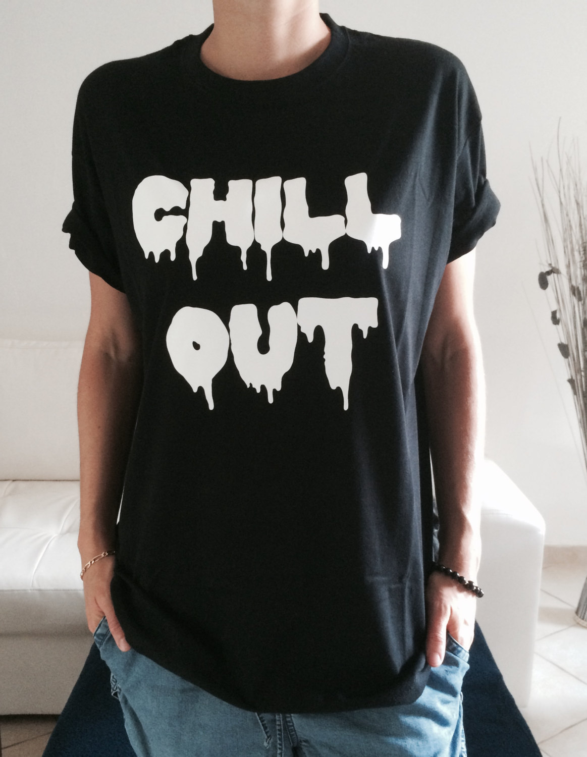 chill out t shirt grunge tumblr blogger hipster punk