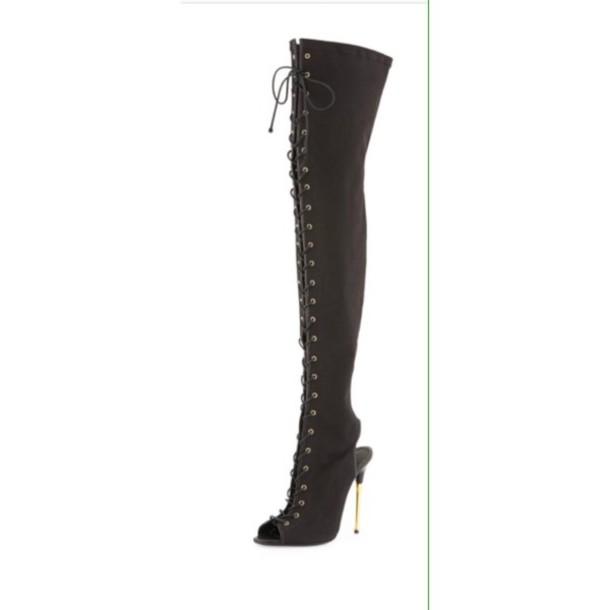 thigh high boots black heels thigh high boots