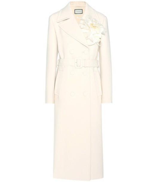 gucci coat wool coat wool white