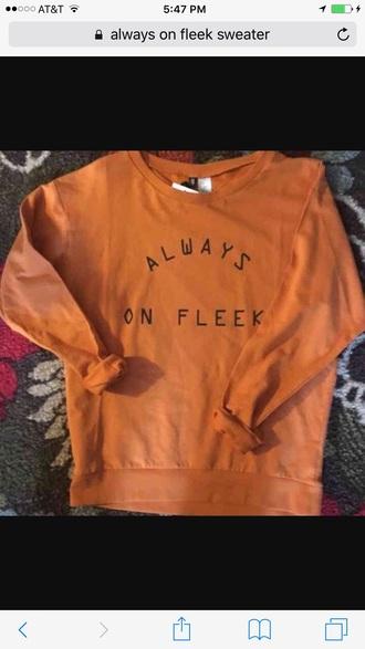 shirt orange sweater