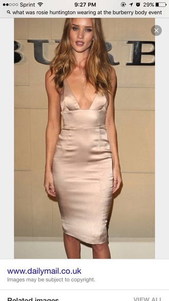 dress rosie huntington-whiteley silk dress