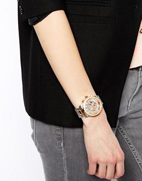 River Island | River Island – Emily – Armbanduhr aus verschiedenen Metallen bei ASOS