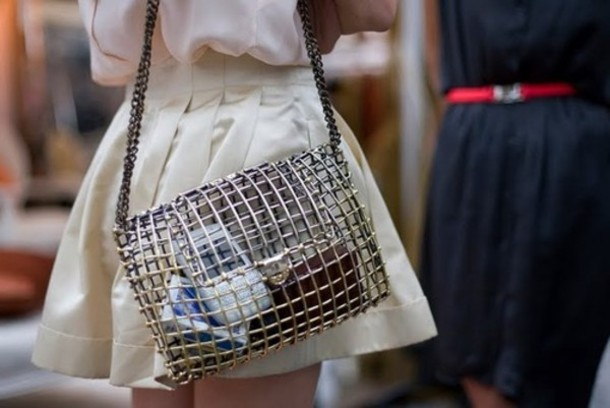 metallic clutch bag shoulder bag metal mesh bag