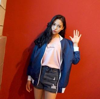 jacket japanese japan korean style kawaii casual storenvy windbreaker zip up casual wear casual jacket korean fashion cute asian fashion asian jacket japanese fashion japanese sweater korean street style