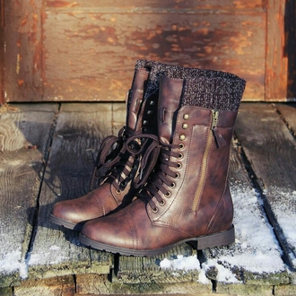 combat boots brown leather boots lace up boots zip up boots really cute blouse winter boots shoes brown combat boots boots