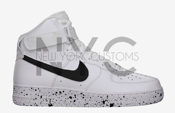 Reverse Oreo Splatter Speckle Nike Air Force 1 High Top White Men