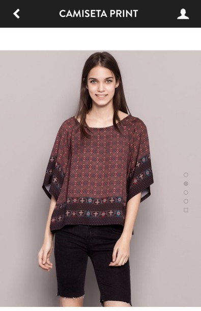 blouse pullandbear