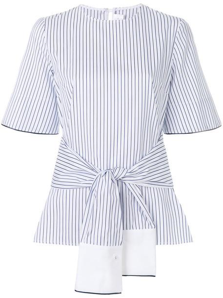 Victoria Victoria Beckham blouse women white cotton silk top