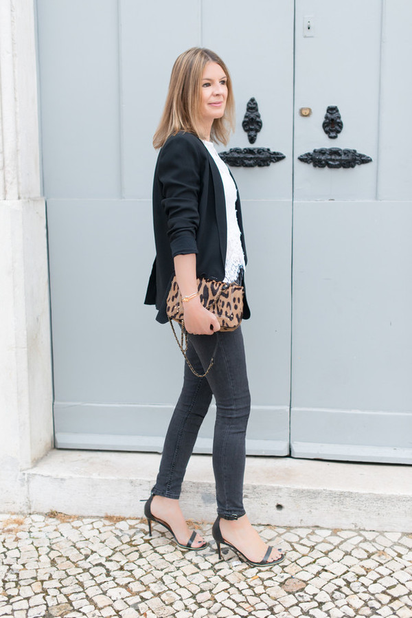 the working girl top jeans jacket shoes bag jewels