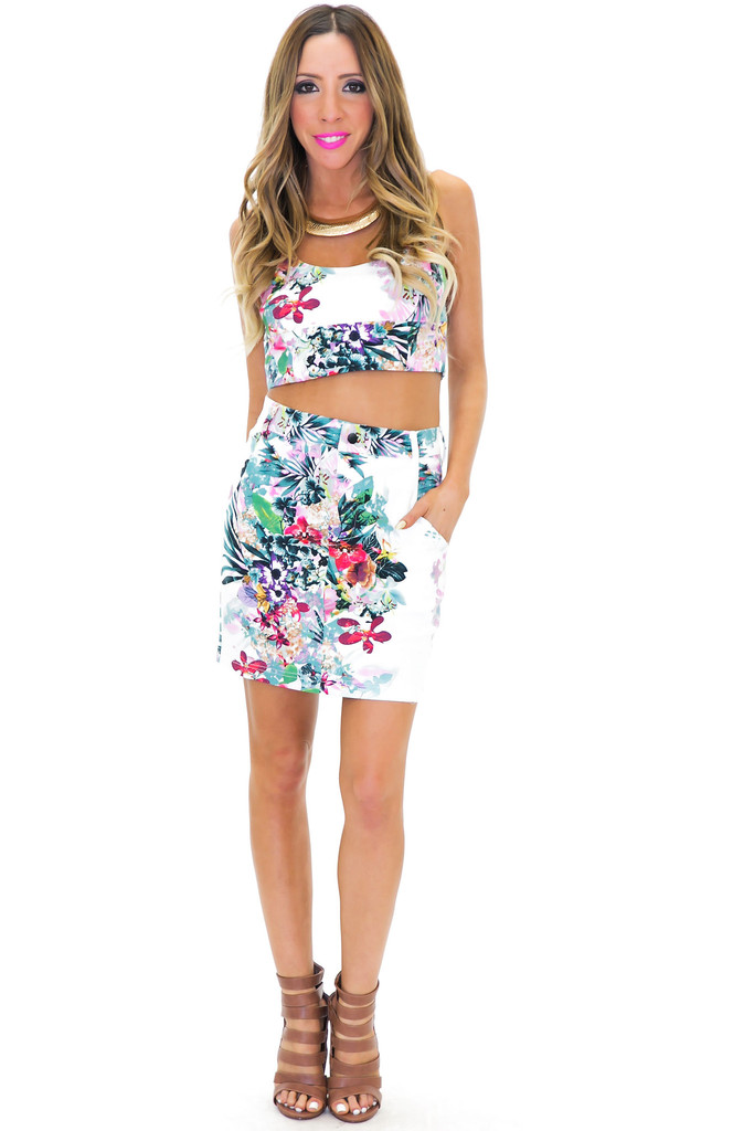 KAPUNA TROPICAL PRINT SKIRT | Haute & Rebellious